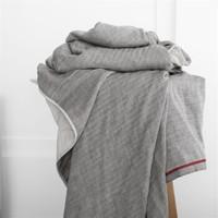 京造 全棉四层纱布毯 150x200cm 灰色