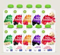 小皮(Little Freddie)果泥嬰兒寶寶輔食 7口味果蔬泥禮盒裝100g*7袋 歐洲原裝進口西梅泥 *2件