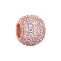 潘多拉 玫瑰魅力密镶串珠串饰 781051CZ 玫瑰金色 925银 女士