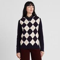 女装 菱形纹圆领开衫(长袖) 422606 优衣库