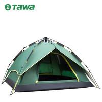 德国TAWA帐篷户外2人3-4人露营防暴雨野营全自动加厚防雨野外双人