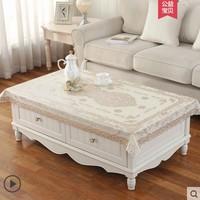 可折叠伸缩桌椭圆形桌布防水防烫防油免洗PVC欧式家用茶几餐桌布