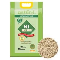 N1猫砂玉米豆腐猫砂10L*3袋 原味小颗粒吸水无尘除臭易结团植物砂