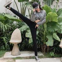 韩国Lets diet魔术裤修身痩腿小脚打底裤外穿铅笔裤秋冬款小黑裤
