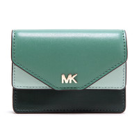 MICHAEL KORS 迈克·科尔斯 MK零钱包 赛车绿混色皮质女士卡包零钱包 32F8TF6D0T RCNG GRN MLT