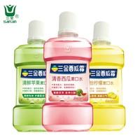 三金 西瓜霜漱口水 500ml*3瓶 *3件