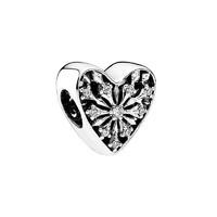 PANDORA潘多拉 女士圣诞冰花锆石之心串饰 银色 791996CZ