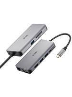 SSK 飚王 苹果笔记本MacbookPro电脑转换扩展坞拓展TYPE-C转hub+HDMI/VGA+sd/tf读卡器网口USB3.0集线分线器