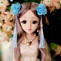 乐心多芭比娃娃大礼盒60厘米超大号洋娃娃套装仿真女孩公主儿童玩具 柏莎公主