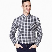 京东PLUS会员:InteRight 男士雅致格纹法兰绒衬衫  +凑单品