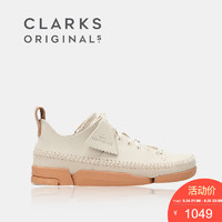 clarks其乐女鞋Trigenic Flex休闲三瓣鞋春季单鞋女平底小白鞋女