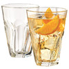 Libbey利比玻璃杯威士忌杯果汁杯啤酒杯家用透明水杯