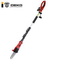 DEKO電動高空無繩無線20V充電式電鏈鋸伸縮桿高枝鋸高枝剪修枝機