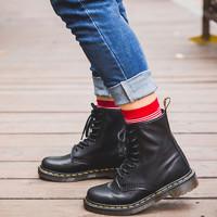 马丁靴女士时尚朋克英伦风秋冬8孔高帮男鞋 1460W