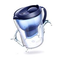 碧然德滤水壶Marella海洋系列3.5L蓝色 1壶1芯 家用办公过滤净水器自来水过滤器 净水壶滤芯套装