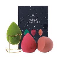 AMORTALS尔木萄 星空美妆蛋套盒 3只+蛋架/盒 干湿两用海绵美妆蛋