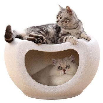 华元宠具(hoopet)猫窝封闭式四季通用猫屋别墅凳子冬天狗窝猫咪网红四季猫房