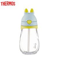 THERMOS膳魔师foogo系列大兔子儿童水杯塑料吸管杯 *2件