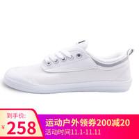 VOLLEY AUSTRALIA 新品小白鞋男女 情侣板鞋休闲系带帆布鞋低帮 V00105 灰白 44