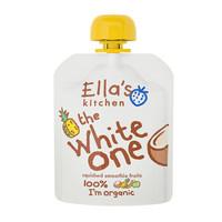 英国 艾拉厨房Ella's kitchen 有机香蕉苹果菠萝椰汁混合白色果泥婴儿辅食宝宝零食90g 6个月以上 *7件