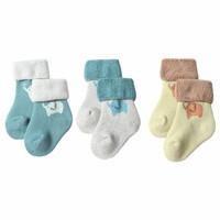 馨颂婴儿袜子宝宝袜子秋季儿童毛圈袜三双套装 小萌象二 S(0-1岁) *3件