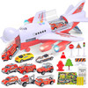 大号音乐故事轨道惯性儿童玩具飞机仿真客机 *3件