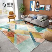 佳佰 现代简约几何条纹地毯茶几客厅卧室床前毯亨瑞160*230cm