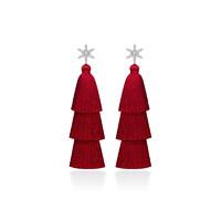 HEFANG Jewelry 何方珠宝 HFG125136 925银 圣诞流苏耳环
