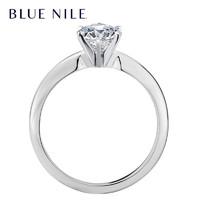 Blue Nile 14K白金 经典六爪订婚钻戒(0.5克拉,SI净度,H色