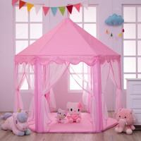 六角帐篷儿童游戏屋城堡帐篷