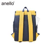 anello商务多隔层高密度翻盖电脑双肩背包男包潮流背包