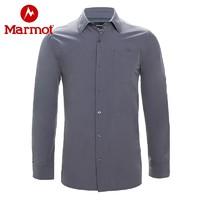 marmot土拨鼠秋季运动户外透气吸汗排湿男士休闲商务衣长袖衬衫