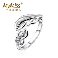 MyMiss 羽动一饰MR-0169 925银镀铂金戒指