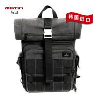 马田战术摄影双肩包帆布多功能大容量特种兵旅行单反登山卷盖背包