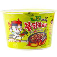韩国进口 三养方便面拉面 火鸡面 炸酱拌超辣碗面 干拌面 105g *2件