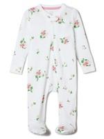 Gap 婴儿 基本款花朵图案一件式连体衣
