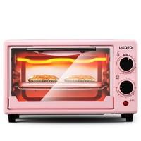 UKOEO烤箱家用 小型烘焙小烤箱多功能全自动迷你电烤箱烤蛋糕面包