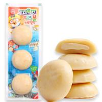 韩国进口 啵乐乐 客唻美 儿童休闲零食 爆浆奶酪鳕鱼饼(蟹味)36g *21件