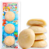 韩国进口 啵乐乐 客唻美 儿童休闲零食 爆浆奶酪鳕鱼饼(虾味)36g *21件