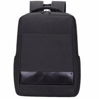 NBC 双肩电脑包15.6英寸男士商务笔记本背包简约时尚休闲书包 NB05黑色 黑色 15.6英寸