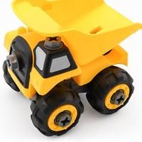 蓝宙/LANDZO 儿童工程车玩具小号可拆卸螺丝拆装组拼装汽车益智力