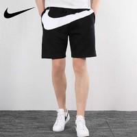 NIKE耐克男裤2019夏季新款大LOGO短裤跑步训练五分裤AR3162-010