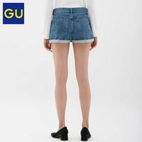 GU 极优 316327 女装牛仔短裤