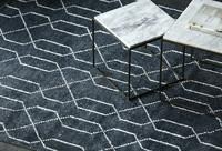 北欧表情/印度进口JAVI系列/HOVENIA几何纹简约地毯C款