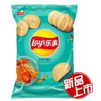 乐事薯片 休闲零食 金黄炒蟹味75克 *3件