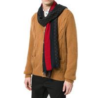 GUCCI 古驰 男女中性时尚双G印花彩色条纹羊毛围巾