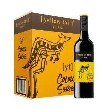 Yellow Tail 黄尾袋鼠 缤纷系列 西拉红葡萄酒 750ml*6瓶