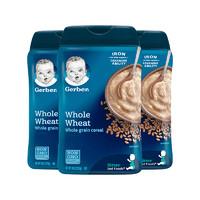 【3件装】Gerber 嘉宝 婴幼儿辅食 全麦米粉米糊 二段 6个月以上 227g