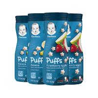 4件装 Gerber 嘉宝 星星泡芙组合(草莓苹果+香蕉) 三段 8个月以上 42g*4罐/组