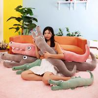 ins网红创意鳄鱼毛绒玩具 1.25米 三色可选